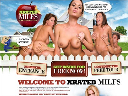 XRated MILFs - Get ready for real desperate housewives & hardcore action!!