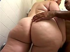 Redhead colossal babe blows old man