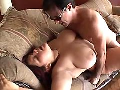 Steamy busty fatty fucks with dudes