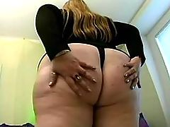 Horny busty grandma sucks and fucks
