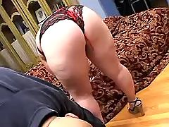 Hot mature housewife eats fresh cum