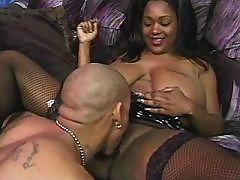 Ebony gets cunt full of pearl cream