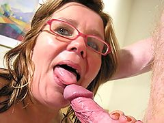 This older honey loves to suck cock
