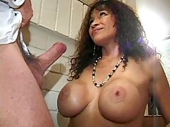 Blonde milf fucks n gets cum on ass